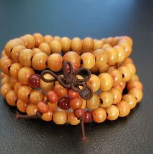 Jewelry - NWT Tan Mala 8mm Prayer Bead Bracelet